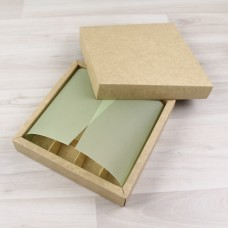ВКЛАДЫШ коробки 16 конфет салатовый