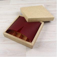 ВКЛАДЫШ коробки 16 конфет винный