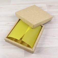 ВКЛАДЫШ коробки 16 конфет желтый