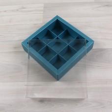 Коробка Дафнис 9 бирюзовый металлик