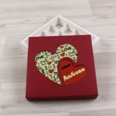 Коробка Грейп красный окно принт