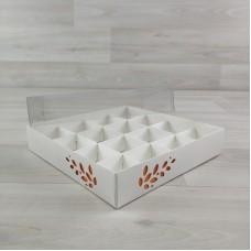 Коробка Имир 16 (160х160х30) декор апельсиновый