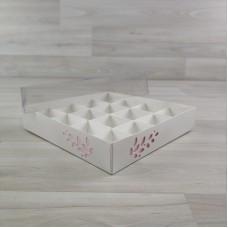 Коробка Имир 16 (160х160х30) декор розовый