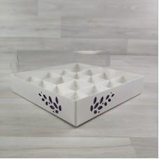Коробка Имир 16 (160х160х30) декор сиреневый