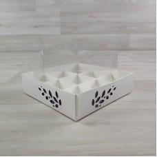 Коробка Имир 9 (120х120х30) декор сиреневый
