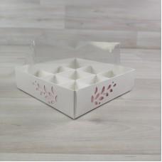 Коробка Имир 9 (120х120х30) декор розовый