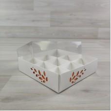 Коробка Имир 9 (120х120х30) декор апельсиновый