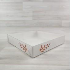 Коробка Имир 16 (160х160х30) без разделителей декор апельсиновый