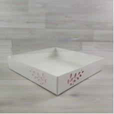 Коробка Имир 16 (160х160х30) без разделителей декор розовый