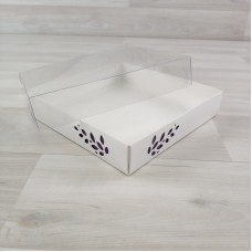 Коробка Имир 16 (160х160х30) без разделителей декор сиреневый
