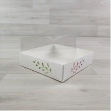 Коробка Имир 9 (120х120х30) без разделителей декор розовый