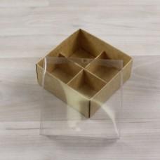 Коробка Дия крафт крышка прозрачная
