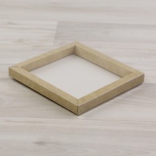 Коробка Теба 015 (125х120х12мм) крафт с прозрачным шубером