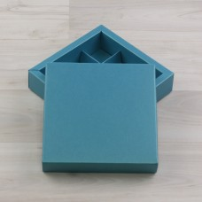 Коробка Нереида 9 бирюзовый металлик