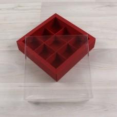 Коробка Дафнис 9 красный