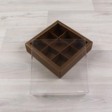 Коробка Дафнис 9 медный металлик