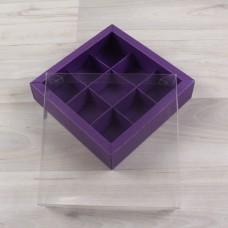 Коробка Дафнис 9 сиреневый металлик