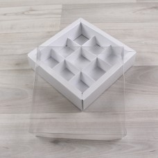 Коробка Дафнис 9 снежно-белый металлик