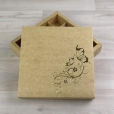 Коробка Элара 16 крафт с тиснением