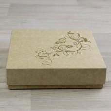 Коробка Элара 9 крафт с тиснением