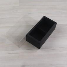 Коробка Карме 2 черный гладкий с прозрачным шубером