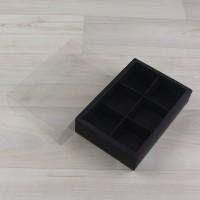 Коробка Карме 6 черный с прозрачным шубером