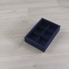 Коробка Карме 6 синий с прозрачным шубером