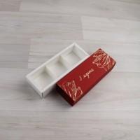 Коробка Этне 3 шубер красный с тиснением
