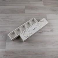 Коробка Этне 5 шубер белый с тиснением