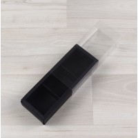 Коробка Карме 3 черный стоун с прозрачным шубером