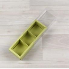 Коробка Карме 3 фисташковый с прозрачным шубером