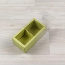 Коробка Карме 2 фисташковый с прозрачным шубером