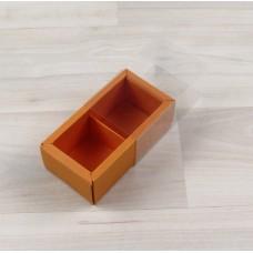 Коробка Карме 2 апельсин с прозрачным шубером
