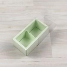 Коробка Карме 2 салатовый с прозрачным шубером
