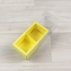 Коробка Карме 2 лимонный с прозрачным шубером