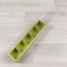 Коробка Карме 5 фисташковый с прозрачным шубером