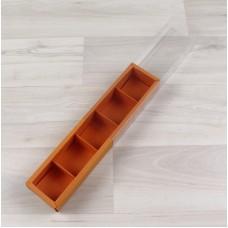 Коробка Карме 5 апельсин с прозрачным шубером