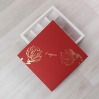 Коробка Паллена 16 красный с тиснением